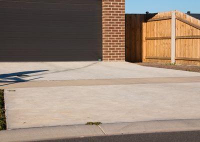 Domestic driveway, light grey concrete