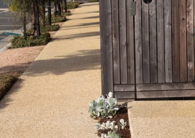 Exposed aggregate foot path