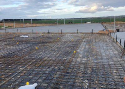 Dairy farm concrete pour